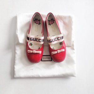 Gucci Toddler's Red Patent Ballet Flats